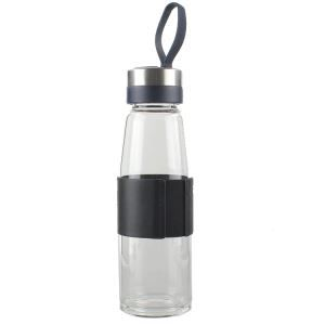 Portable travel water bottle glass