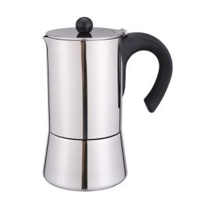 9 Cup Brew-fresh Stainless Steel Italian Style Expresso Coffee Maker For Use On Gas Electric