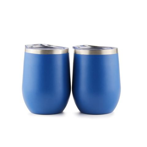 Insulated Stainless Steel Wine Glasses With Lid